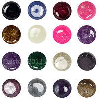16 Color Glitter Dust Uv Builder Gel Nail Art Tips Tools Set Us Seller Ship