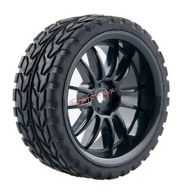 HSP HPI 6031-6017 Rubber Racing Tire Tyre Wheel Rim 4P For RC 1/10 On-Road Car