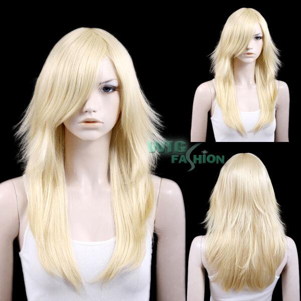 Long Wavy Light Blonde Hair Wigs LM03