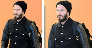 Beckham In Leather Spotted Denim Belstaff David Jacket pxqZ8wZ