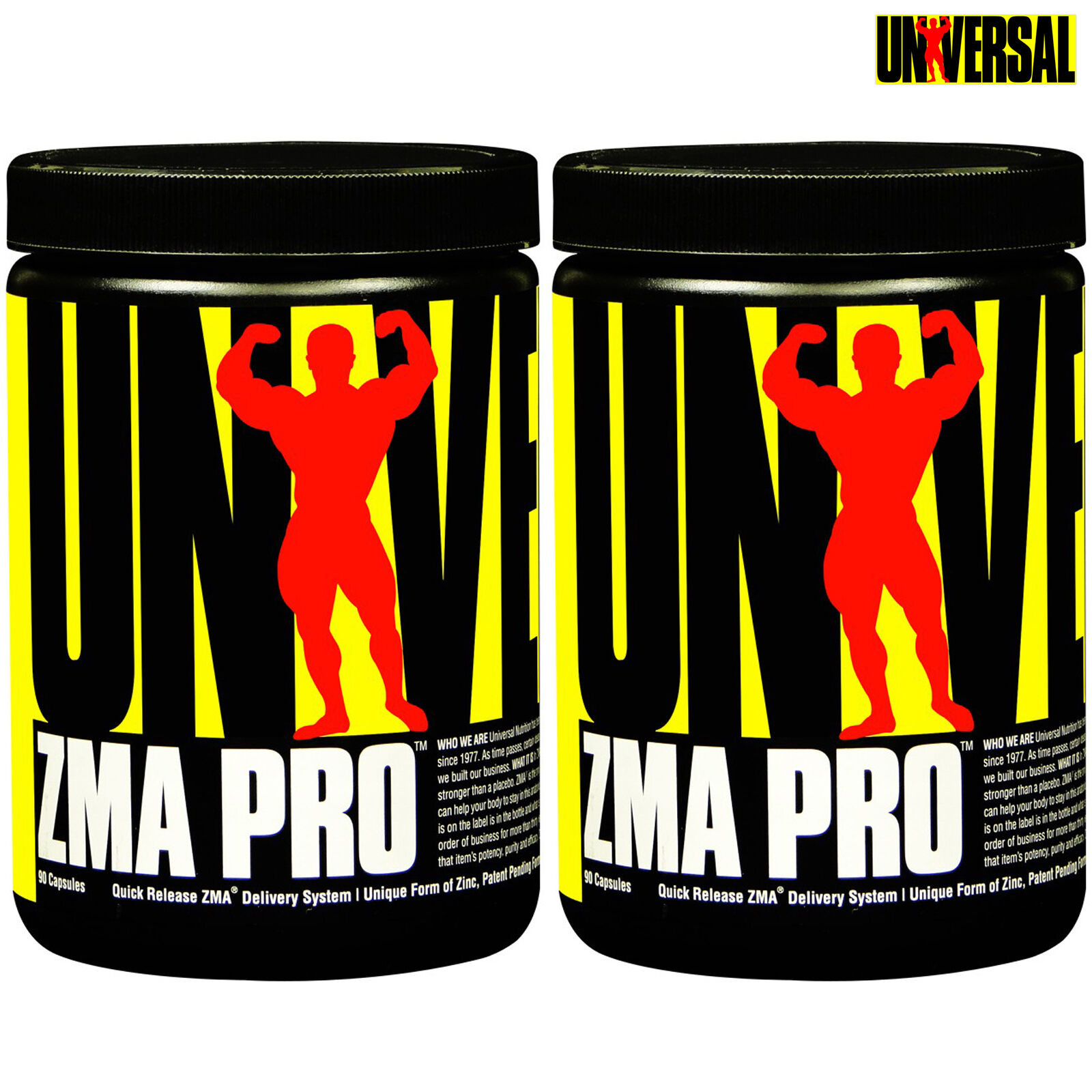 ZMA PRO 90/180 Capsules Mineral Anabolic Zinc Magnesium Vitamin B6 Bodybuilding