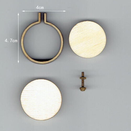 DIY Round Mini Wooden Cross Stitch Embroidery Hoop Ring Frame Machine Fixe Sp