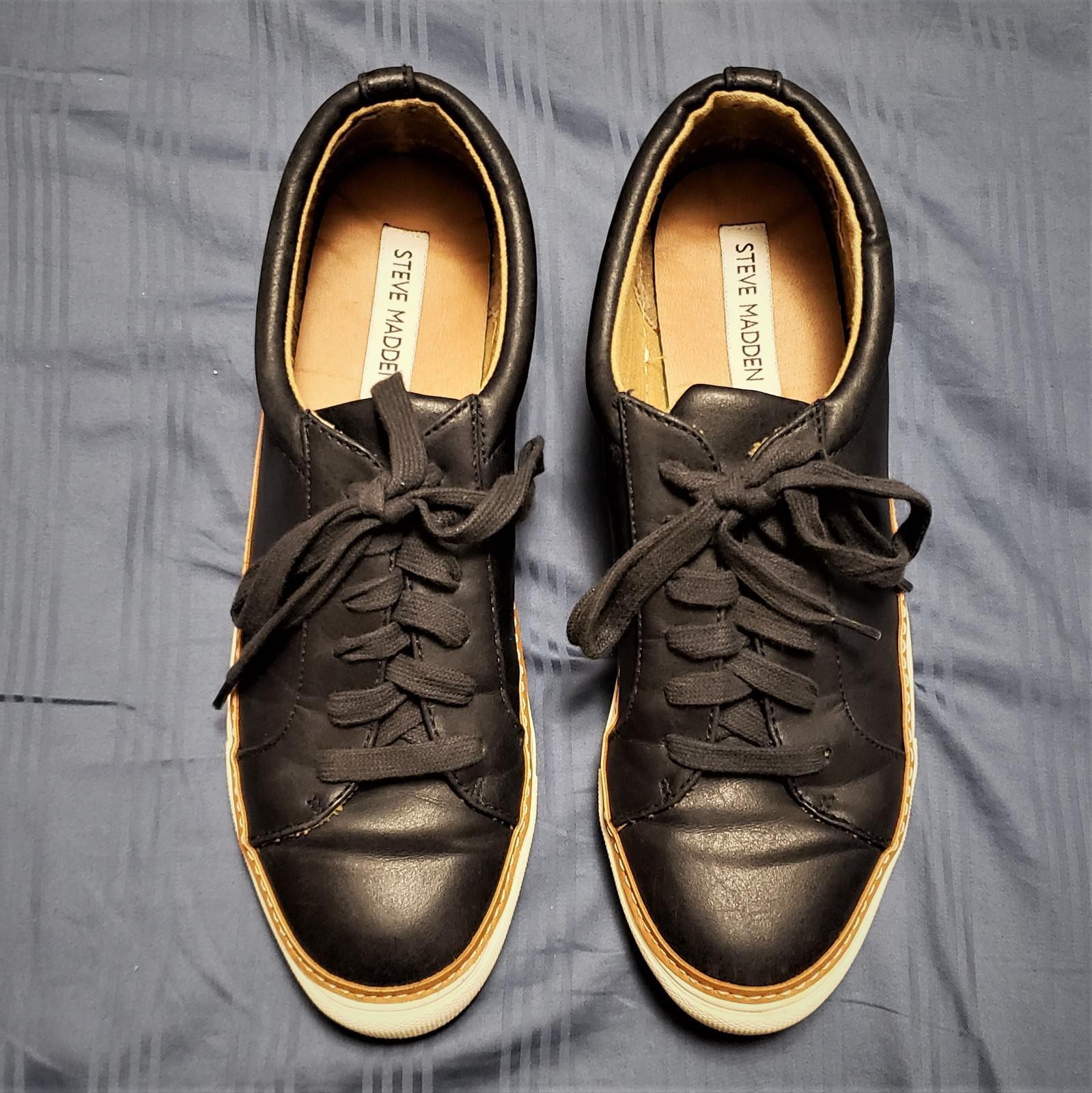 MEN'S STEVE MADDEN Size 7 Charcoal Blue Bonded Shoes Shoes Shoes w/ Brown Mid-Sole Trim 0051ff