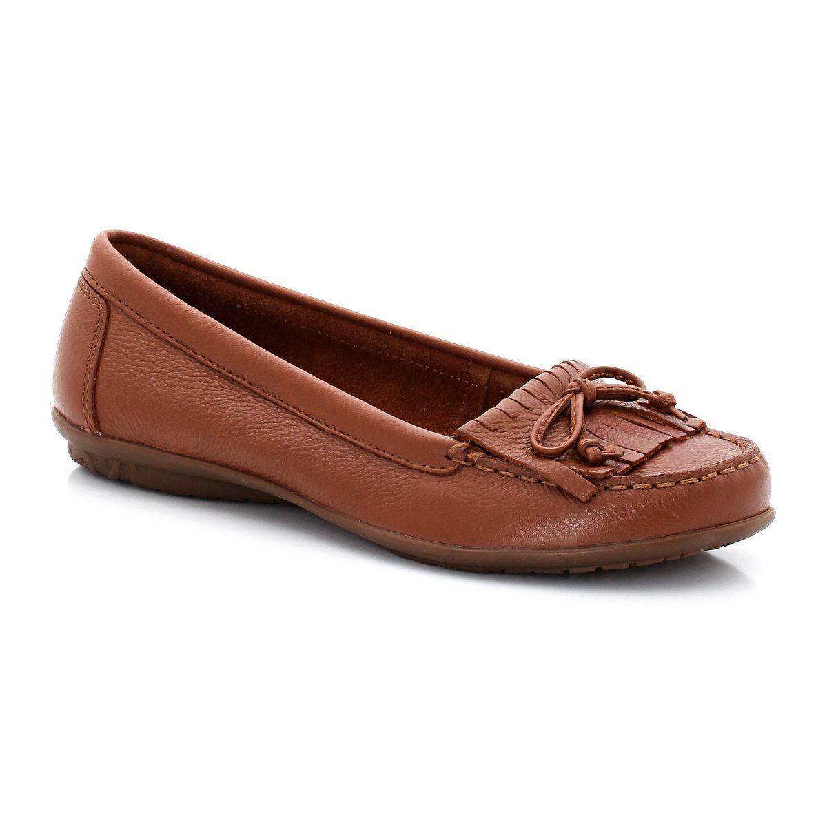 Mujer señoras Hush Puppies Ceil Mocc Cuero Tostado Zapatos Para