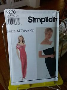 Oop-Simplicity-Jessica-McClintock-9270-misses-retro-evening-dress-sz-12-16-NEW
