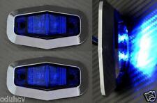 2x LED Seite Blau Chrome einfassung begrenzungsleuchten 24V für Lastwagen MAN