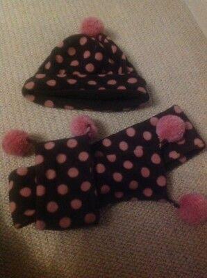 Gap Bambine Morbido E A Pois Cappello E Sciarpa Set Con Pon Pon-mostra Il Titolo Originale