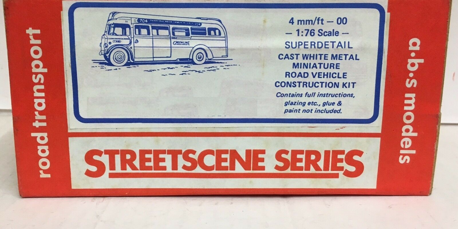 ABS STREETSCENE  AEC REGAL 10T10(GREEN 10T10(GREEN 10T10(GREEN LINE) WHITE METAL BUS KIT No R264 231c05