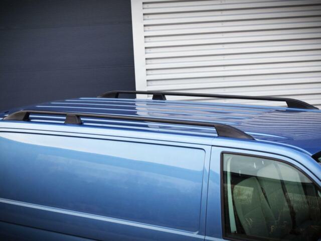 Aluminium Black Pair Roof Rails Bar Set Fixings for Mitsubishi L200 2015 on