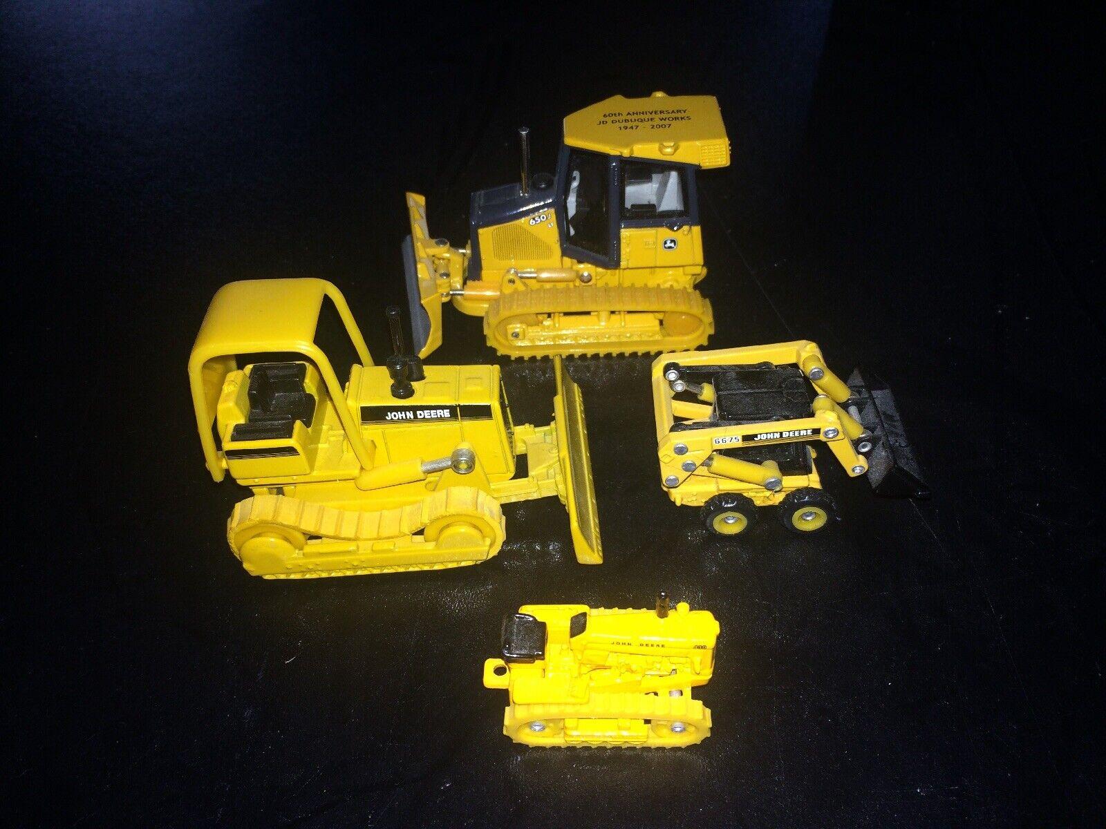 Rare Ertl John Deere Construction Toy Lot Bulldozer 1 64 Vintage Metal Set