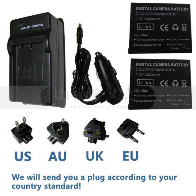TZ3 TZ2 BCD10E für Panasonic Lumix DMC TZ1 Ladegerät CGA S007