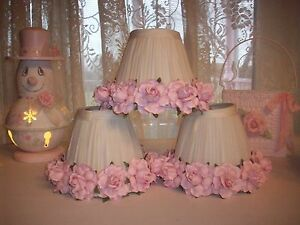 Small Pink Rose Lamp Shades For Single Lamps Candle Lamps