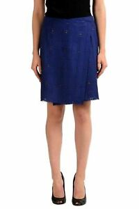 Maison-Margiela-1-Wool-Navy-Women-039-s-Wrapped-Skirt-US-M-IT-42