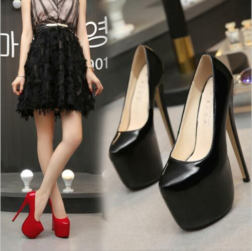 New Womens Ladies Platform Stiletto Very High Heels Court Clubwear Evening Shoes