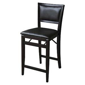 Tremendous Linon Home Decor Keira Pad Back Folding Counter Stool 24 Inch Ncnpc Chair Design For Home Ncnpcorg