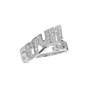 Genteel Sterlingsilber Stein Set Modisches Abstrakte 'mama' Ring To Be Renowned Both At Home And Abroad For Exquisite Workmanship Fine Jewelry Skillful Knitting And Elegant Design