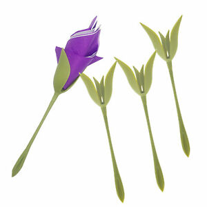 Bluete-Serviettenhalter-fuer-Tabelle-Kunststoff-Twist-Blume-Serviettenhalter-Gruen