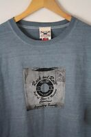 Rock And Roll Hall Of Fame Blue Lp Record Tee Shirt Cleveland L Oarsman