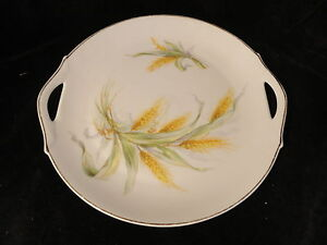 ZS-amp-C-Porzellan-10-in-2-Handled-Serving-Plate-Wheat-1880-1918