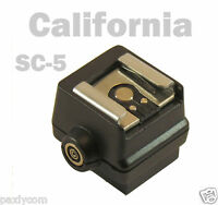 Sc-5 Flash Hot Shoe Adapter Sony A900 A700 A350 A300 A200 A100 Fs-1100 17d 5d Z3