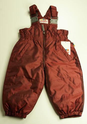 Liegelind Enfants Baby schneehose neige-Latzhose rouge taille 74 98 Nouveau