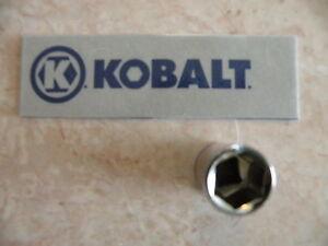 "New Kobalt 0338124 11//32/"" 6 Point Deep Socket 1//4/"" Drive"