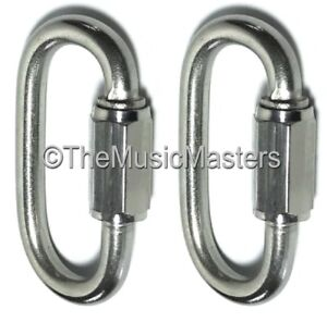 "Generous 2x Stainless Steel 5/16"" Chain Link Connector Boat Rope Dock Line Mooring Splice Complete In Specifications Parts & Accessories"