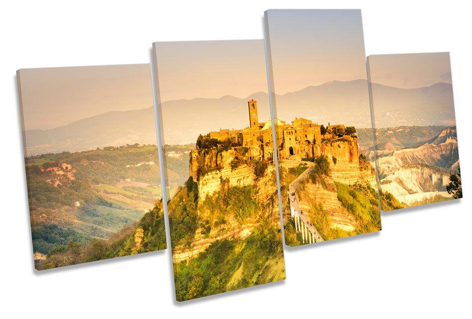 Civita di bagnoegio Italia Lona Pa rojo    Arte Cuadro Enmarcado de múltiples 4f5ff7