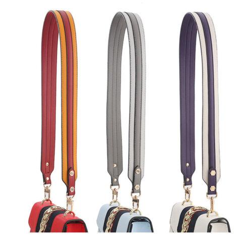 Cross-body Shoulder Bag Strap Replacement Adjustable PU Leather Handbag Belt