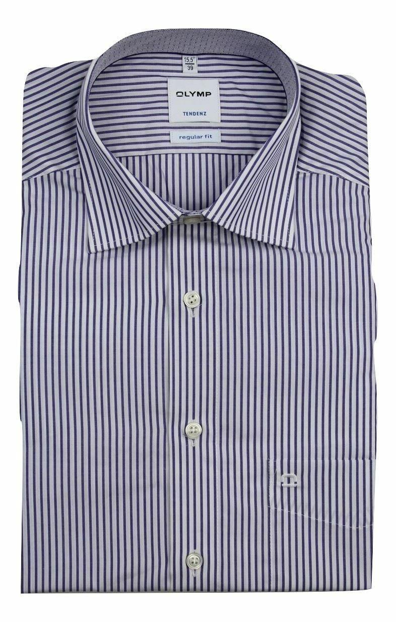 Purple Stripe Spread Collar