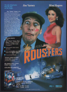 THE ROUSTERS__Original 1990 Trade Print AD / ADVERT__ JIM VARNEY__MIMI ROGERS