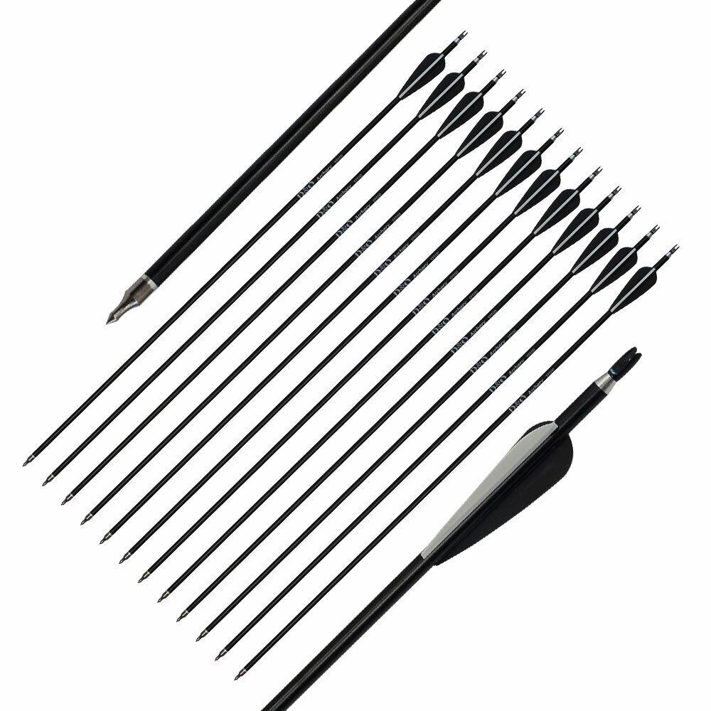 6 x Easton XX75 Genesis 1820 30 Aluminium Arrows Including Nocks Fletchings and Point