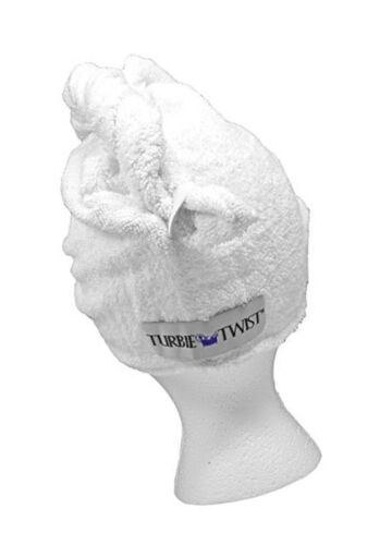 Turbie Twist White Super-absorbent Hair Towel cotton 1 pack