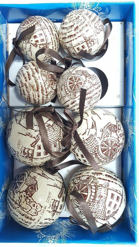 15 palle albero di natale del mulino 2005 bianco del 2005 mulino rare vintage 8ee6bd