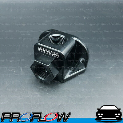 Black Proflow 939-06-08BK Aluminium Fuel Pump Y Adaptor Female 2 x 6AN To AN8