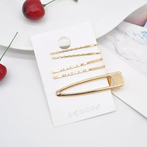 3//4//5pcs Cute Pearl Gold Metal Hair Clip Hairband Pin Barrette Hairpin Headdress