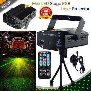 LED-Stage-Lighting-Mini-R-amp-G-Laser-Projector-Disco-Party-Club-DJ-Light-UK-Stock