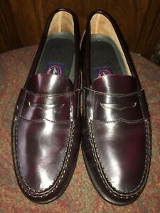 cedb652dc1752 Details about Allen Solly Burgundy Leather Casual Dress Business Loafers  Shoes Men Size 9 1/2