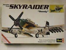 "Vintage Revell Douglas A-1H Skyraider ""Sandy"" 1:40 model airplane kit #H-260"