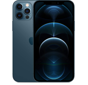 "APPLE IPHONE 12 PRO 512GB PACIFIC BLUE 5G DISPLAY 6.1"" iOS 14 Wi-Fi HOTSPOT"