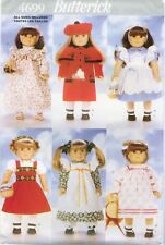 """Butterick 4699 5589 18/"""" Doll Clothes Sewing Pattern Dirndle Nightgown Coat UNCUT"""