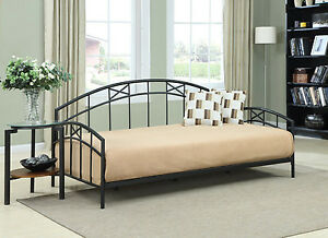Dorel Asia Metal Twin Daybed Black Mattress Bedroom Furniture Dorm Kids Bed NEW