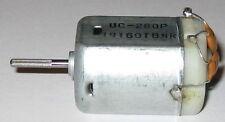 Nichibo UC-280P 12VDC Motor - Knurled Shaft - Filter Capacitor - Car DC Motor