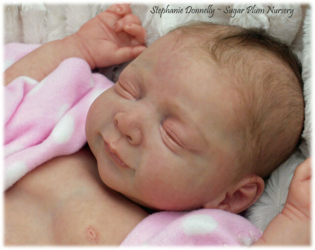Stephanie, Beautiful New Baby Soft vinyl  Reborn Doll Kit *Phil Donnelly Babies*