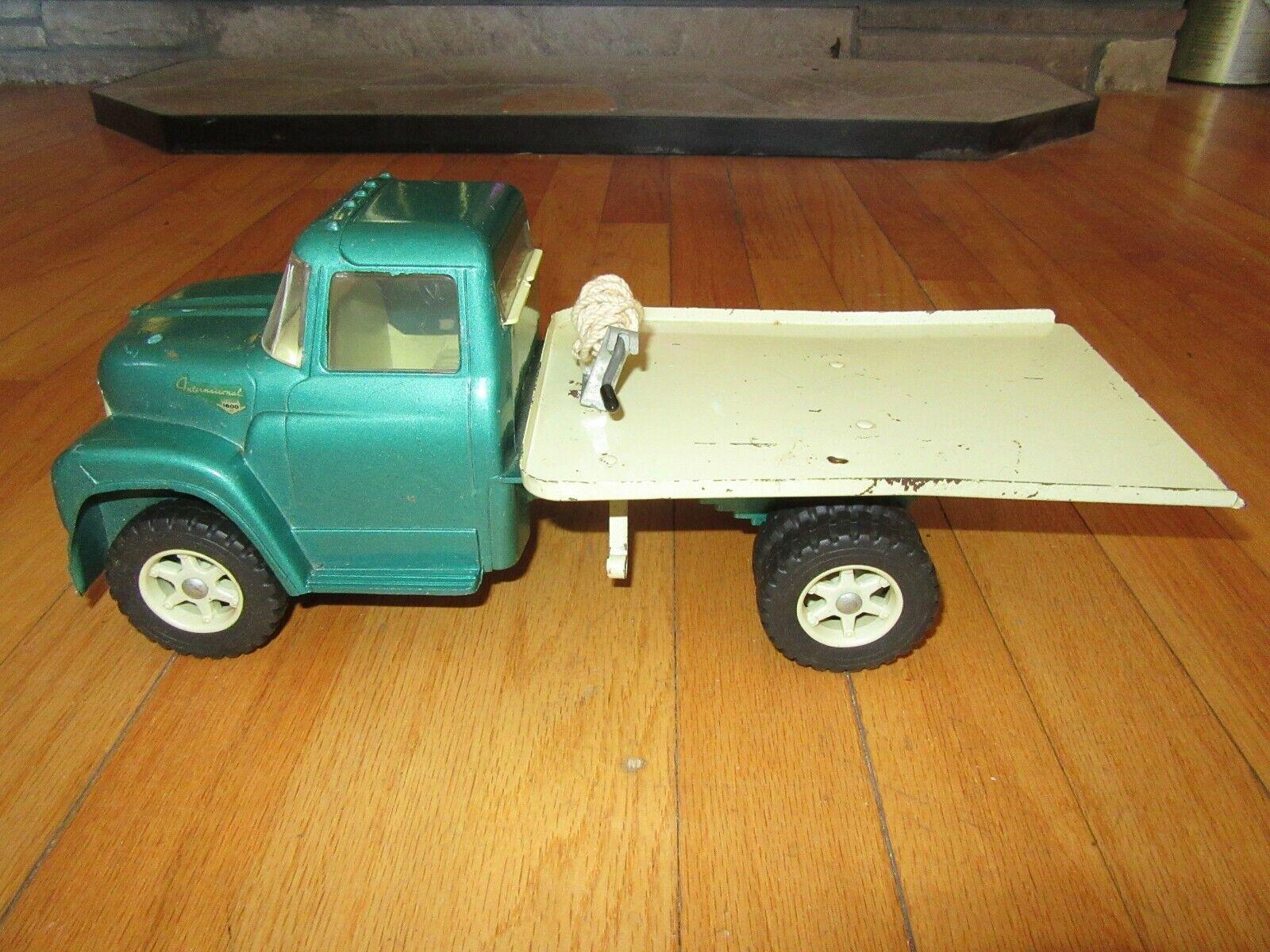 10L Ertl Internacional verde Cama Plana camión inclinación Cuerda   Raro