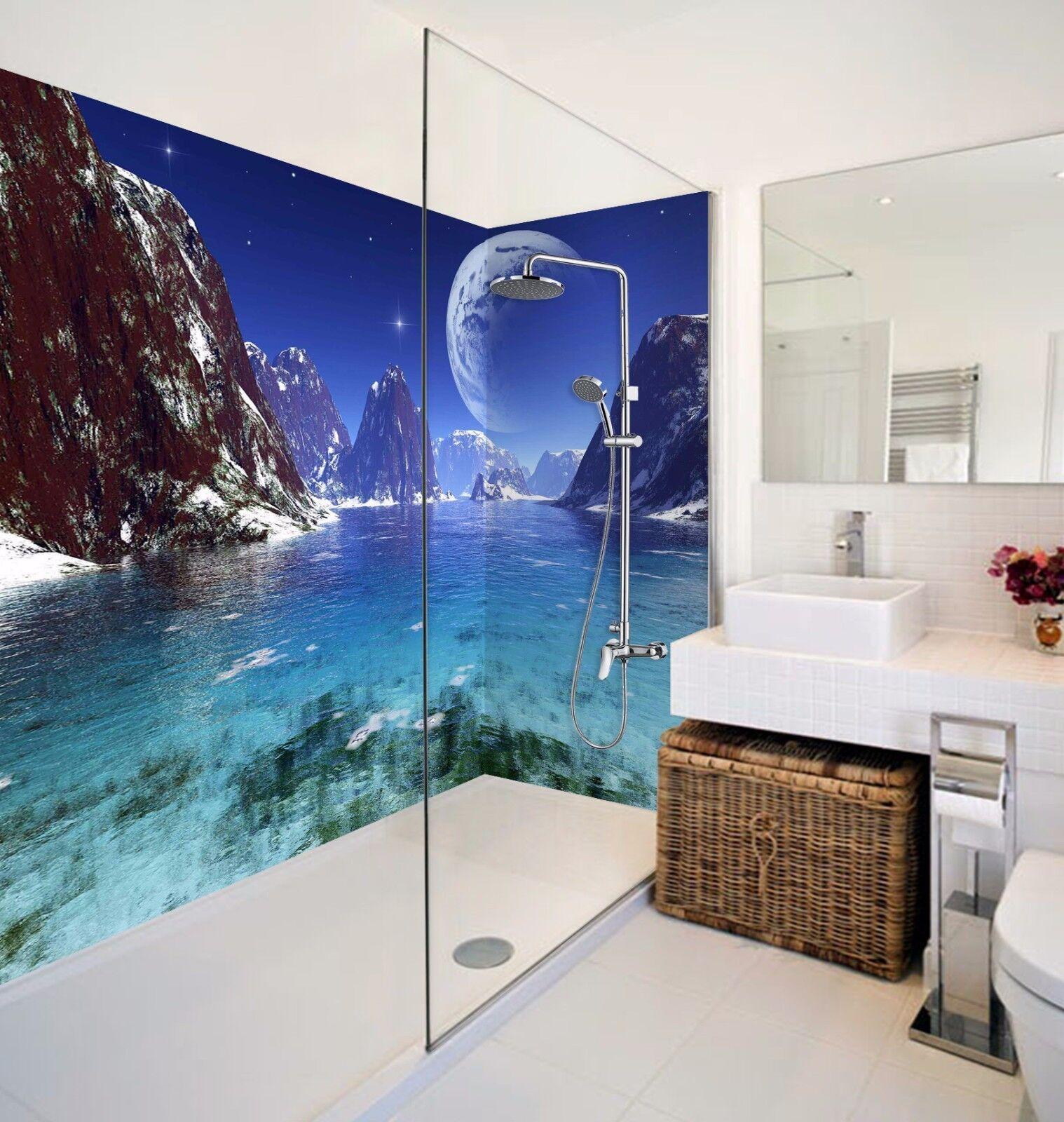 3D Mountain 739  WallPaper Bathroom Print Decal Wall Deco AJ WALLPAPER AU