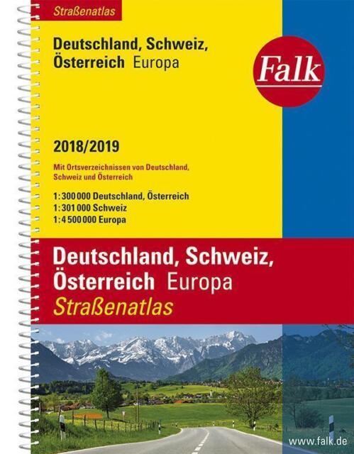 Falk Straßenatlas Deutschland, Schweiz, Österreich, Europa 2018/2019, UNGELESEN