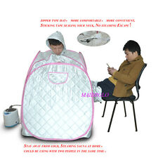 Portable Personal Steam Sauna Tent Slimming Full Body Spa Therapy Detox Silver