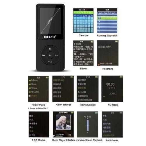 16GB 8G 4G RUIZU X02 Sport Mini Lossless HIFI MP3 Music Player Recorder FM Radio