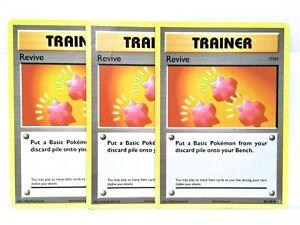 3x-Revive-85-108-Pokemon-XY-Evolutions-Trainer-Carte-NM